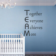 Inspiration Wall Decal Team Work Employees Quote Home Room Vinyl Removable Decor