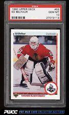 1990 Upper Deck Hockey Ed Belfour ROOKIE RC #55 PSA 10 GEM MINT (PWCC)