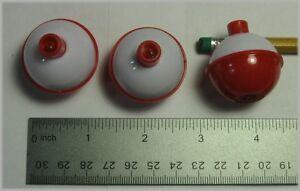 "SOUTH BEND SB-F5 Red & White Bobbers 1 1/4"" Fishing Floats (3 Pak)"