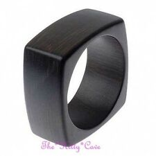 Square Chunky Puffed Natural Brown Wooden Wood Bangle (can paint / add own decor