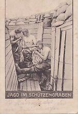 S 42-Militaria Chasse dans les tranchées, chipoter, 1918 comme franchise tourné