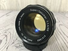 Asahi Opt. SUPER TAKUMAR 1:1.4 50mm M42 Screw Mount Prime Lens PENTAX