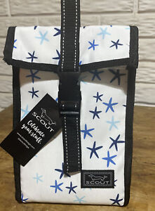 New SCOUT Bags Doggie Bag Insulated Lunch Box Soft Cooler Blue/White Star Lineup
