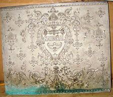 Vintage 1890's National Cash Register Machine Ornate Back Plate Model Unknown