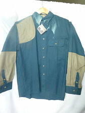 "MENS BOB ALLEN HUNTING SHIRT MED L 29"" CHEST 22""  GREEN- TAN"