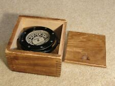 Antique Vintage Es Ritchie Upson-Walton Cleveland Compass in wood box