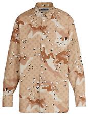 LOUIS VUITTON Mens Shirt 2020 SS BNWT Camo DNA Size XL Brown Beige