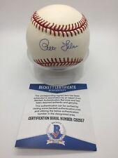 Pete Falcone Signed AUTOGRAPH OMLB Official NL White Baseball BAS BECKETT C22557
