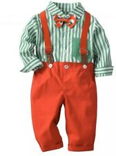 Rorychen Baby Toddler Christmas Clothes With Suspenders 6-12 Months