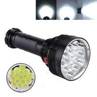SKYRAY 30000 Lumen 16X XML T6 LED Torch Handheld Flashlight Hunting 6x18650 LAMP