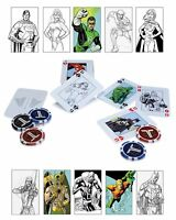 DC COMICS Justice League Starter Poker Set Chips Casino Game Cards Gift