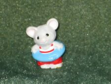 Hallmark Merry Miniature 1990 Mouse with Inner Tube - Everyday Spring - New