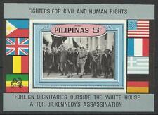 PHILIPPINES 1968 J F KENNEDY UNISSUED 5c MINI SHEET MINT