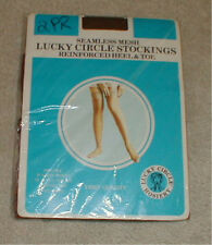 New In Package NOS 2 Vintage Pairs Lucky Circle Stockings Size Average