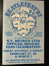 Beatlefest 1987 Program rare The Beatles John Lennon Paul McCartney Harrison Sta