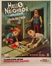 Hello Neighbor Promo Gamestop Poster. Rare.
