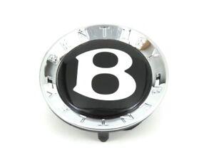 Genuine New BENTLEY MOTORS B BLACK WHEEL HUB CENTRE CAP 3Y0601162