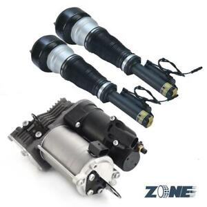 For Mercedes W221 S350 S550 Front Pair Air Suspension shocks & Compressor Pump
