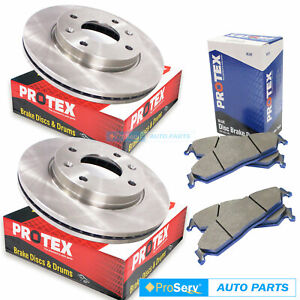 Front Disc Brake Rotors & Pads for Mitsubishi Lancer CE 1.5, 1.8L 7/1996-9/2004