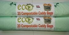 Food Waste 7 Ltr Kitchen Caddy Bags Compostable  Biodegradable bags x 20