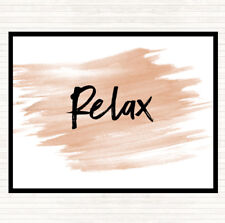 Watercolour Bold Relax Quote Dinner Table Placemat