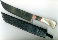 UZBEK NATIONAL KNIFE PCHAK PICHOK HANDMADE HORN HANDLE (191)
