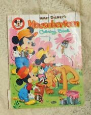 Vintage Mid Century 1956 Walt Disney'S Mickey Mouse Coloring Book Mousekartoon