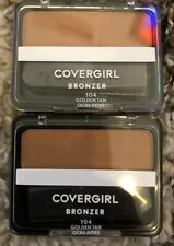 2 CoverGirl Cheekers Bronzer, Golden Tan [104]0.12 oz New Sealed