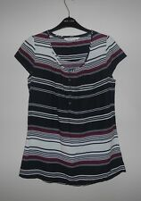 FAT FACE LADIES STYLISH STRIPED TUNIC TOP SIZE 10