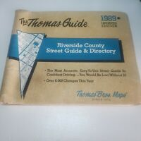 1989 Thomas Guide Riverside County Street Guide Directory CA Updated Edition map