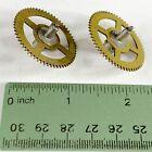 2 Large Clock Wheels 33mm Gears Watch Steampunk Altered Art Gold Lot Watchmaker