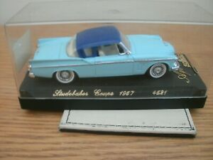 SOLIDO MODELS, 1957 STUDEBAKER COUPE (AGE D`OR), No.4521,1:50, VGC IN CASE.