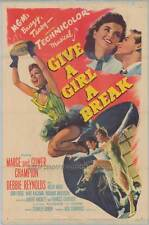 GIVE A GIRL A BREAK Movie POSTER 27x40 Marge Champion Gower Champion Debbie