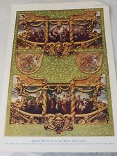 CIPRIANTI DECORATION ON THE KINGS STATE COACH plate XIII A.HUGH FISHER 1930'S