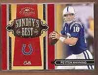 2009 Donruss Classics Sunday's Best Silver #31 Peyton Manning /250 - NM-MT