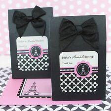 24 Personalized Eiffel Tower Paris Wedding Favor Bags Candy Buffet Boxes Q19390