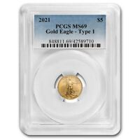 2021 1/10 oz American Gold Eagle MS-69 PCGS - SKU#231871