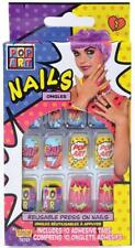 Pop Art Nails 50's Comic Book Retro Fancy Dress Up Halloween Costume Accessory