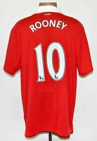 MANCHESTER UNITED 2010/2011 #10 ROONEY HOME FOOTBALL SHIRT JERSEY NIKE SIZE L