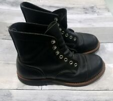 Red Wing 8114 Iron Ranger Black  Men's Boots Size 5.5