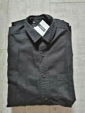 TOPMAN Shirt LONG Sleeved BLACK Regular Fit SIZE XS Cotton NEW With Tags £28