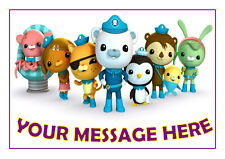 OCTONAUTS  BIRTHDAY  CAKE TOPPER  A4  EDIBLE ICED/ ICING PERSONALISED