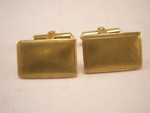 -Yellow Gold Filled 1/20 12K G.F. Hinged Vintage B.A.B. Cuff Links