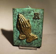 7315:Schöne Messingplakette, ALBRECHT DÜRER, Betende Hände,gebraucht.