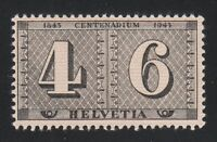 Switzerland 1943 MNH Mi 416 Sc 283 Centenary of postage stamps of Switzerland **