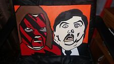 wwe kane and paul bearer canvas 30x40cm hand painted