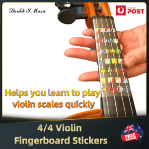 4/4 Violin Fiddle Fingerboard Chord Note Stickers Violin Beginer learning tools