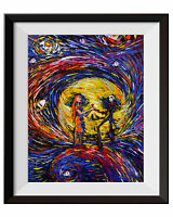Jack and Sally Nightmare Before Christmas Van Gogh Starry Night Wall Art A020