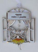 aa Faith makes it possible Garden Fairy Window Ornament ganz