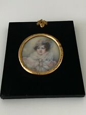 More details for exceptional victorian portrait miniature of a lady, signed isa, framed